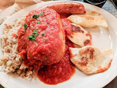 Everything Eastern European in this Minneapolis store and restaurant. I packed my bag with sausages and enjoyed cabbage roll and more