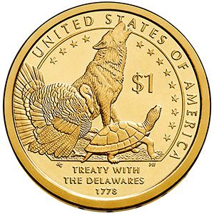 """When the Citizens Coinage Advisory Committee reviewed the designs for the 2013 Native American $1 coin, I called this design """"the hungry wolf"""" because it looks like the wolf is eating the letter """"A"""" in """"States.""""  This coin was ultimately selected by the Secretary of the Treasury and the US Mint now has them for sale."""