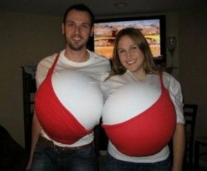 the couple that dresses like big boobs together, stays together.