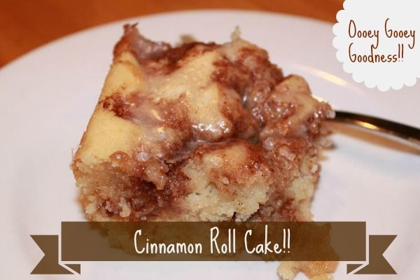 Cinnamon Roll Cake--This cake is sooo good and I love that it uses ingredients that I normally have on hand...I give this 4 out of 5 stars!