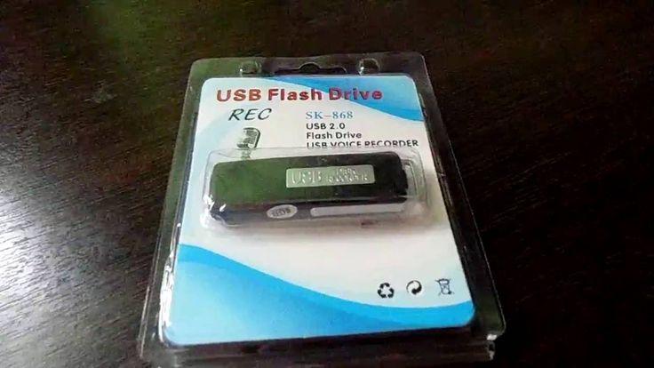 Цифровой мини диктофон 8 ГБ USB DISK RECORDER