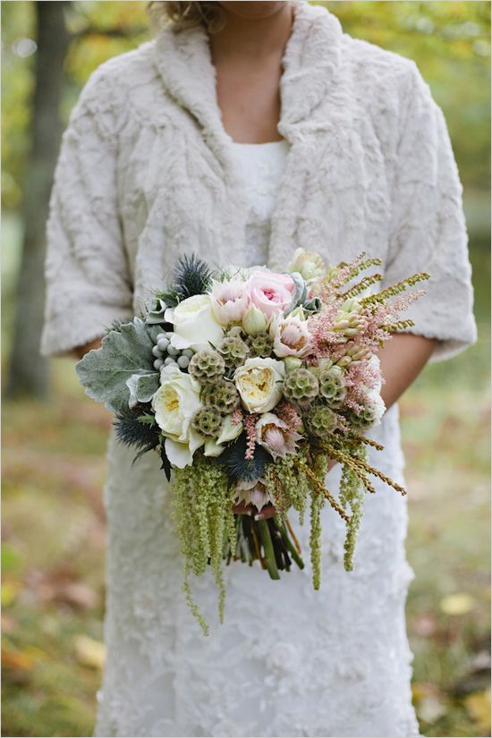 pink, white and green bridal bouquet by Munster Rose http://www.weddingchicks.com/