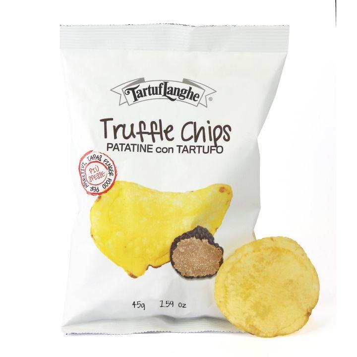 Truffle chips by Tartuflanghe, la patatina al tartufo gourmet. Un modo nuovo di gustare le patatine fritte. Solo le migliori patate,fritte esclusivamente in...