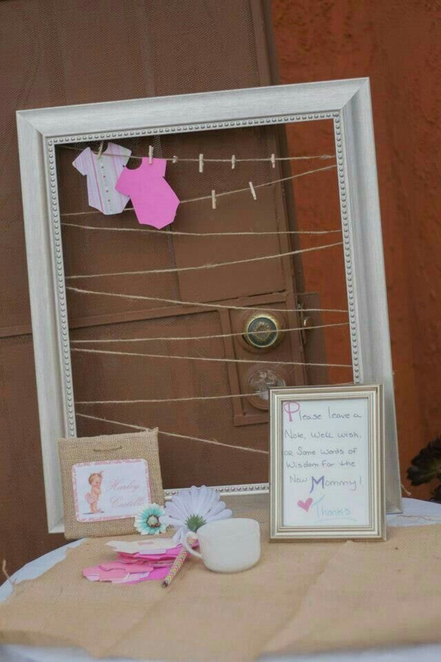 Guestbook for baby shower