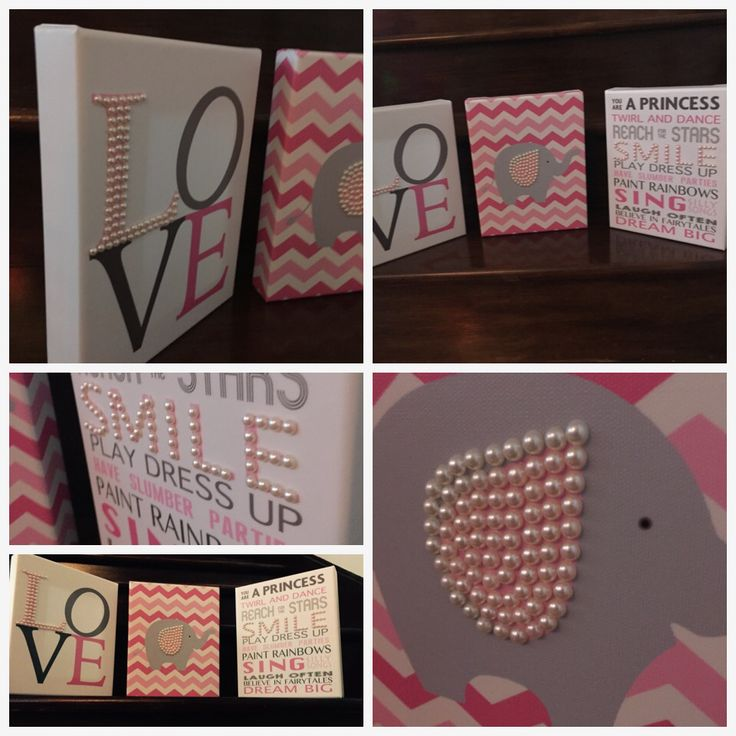 Canvas prints with little pearls