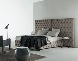 Tuyo  Capitonne  Contemporary, Upholstery  Fabric, Leather, Bed by Meridiani