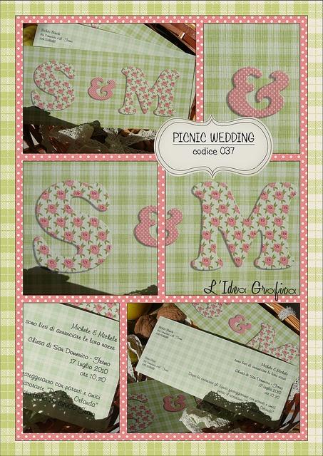 PICNIC WEDDING - codice 037 #wedding #stationery #invitation