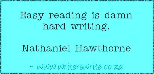 Quotable – Nathaniel Hawthorne – Writers Write