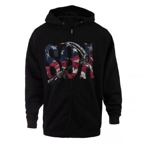 Sons of Anarchy Reaper American Flag Hoodie