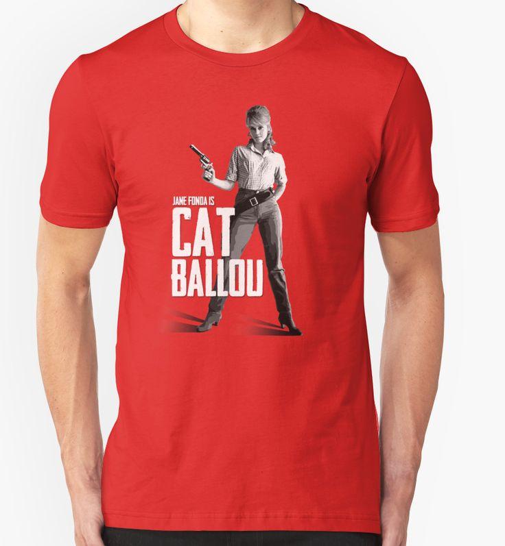 Cat Ballou - Jane Fonda western movie film lee marvin parody barbarella klute cult gun woman cowboy outlaw icon actress cinema T-Shirt Design von adriangemmel