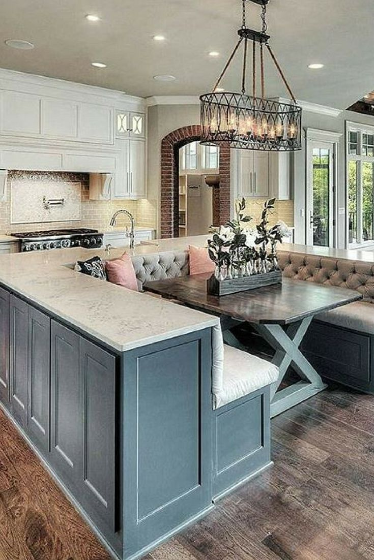 Top 10 Luxurious Kitchen Design Ideas Is It Possible To Have Cosy Luxurious Kitchen At Once Th Home Kitchen Island With Bench Seating Kitchen Inspirations