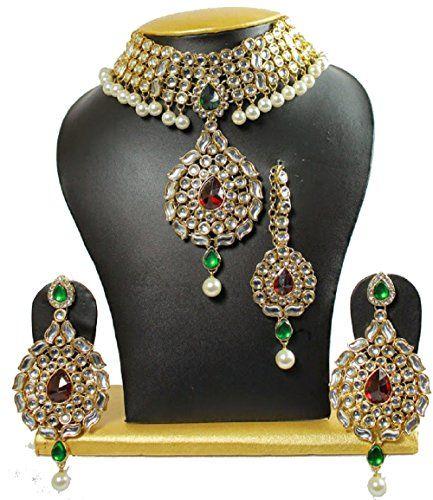 Indian Bollywood Red & Green Stone Gold Wedding Wear Jewe... https://www.amazon.com/dp/B01NCZ9ZYL/ref=cm_sw_r_pi_dp_x_OMRMybDXVW6A7