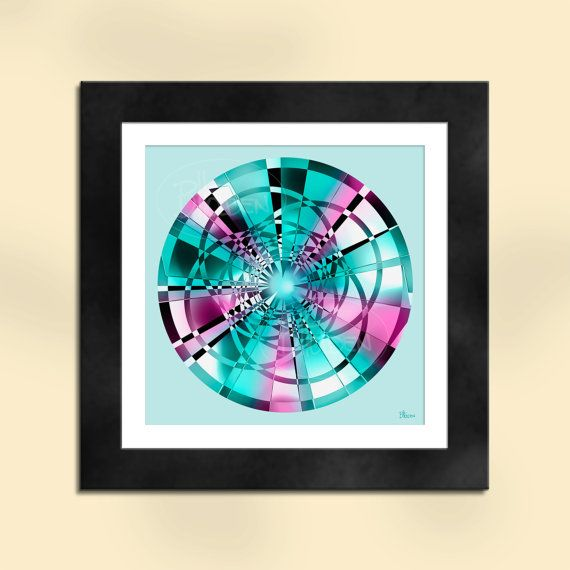 Circle 3 Abstract Art Print by SapphireMoonArt on Etsy