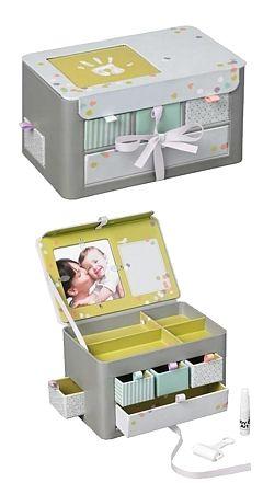 Baby Art Treasure  Box - Pudełko na pamiątki z dzieciństwa z odciskiem rączki lub stópki  (art. 34120113)
