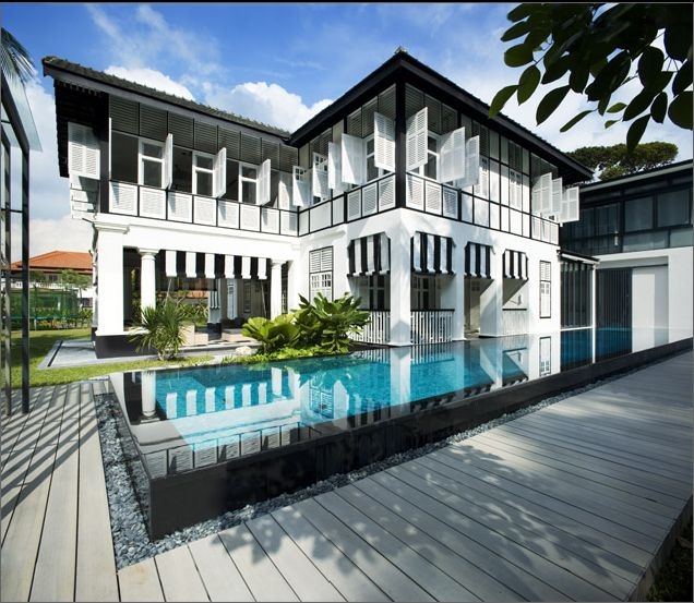 Colonial bungalow in cable road singapore chan sau yan architects colonial architecturecontemporary