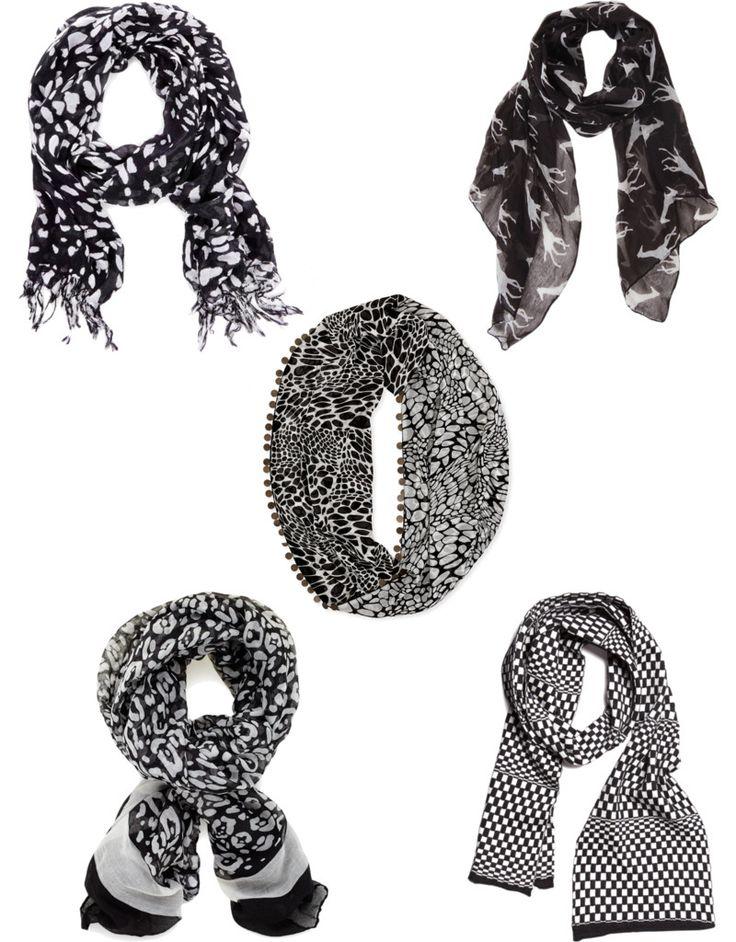 Black and White Scarves - BonBon Rose Girls