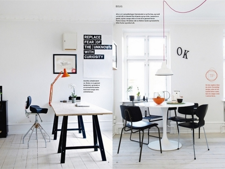 work space + dining