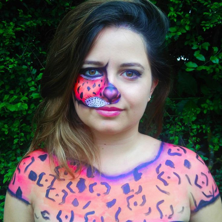 #Pink #Tiger #Bodypainting on my cousin