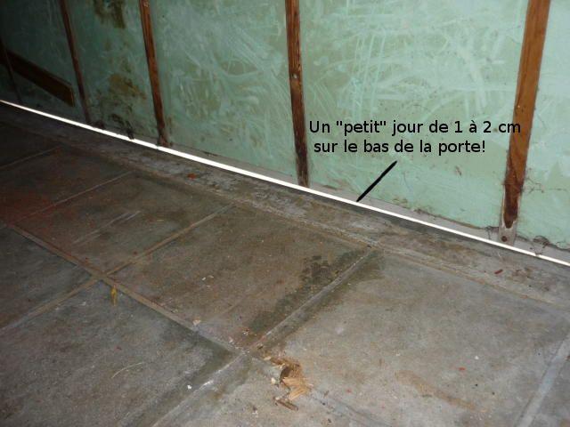 Ponts thermiques au garage, optimisation d'une porte et murs