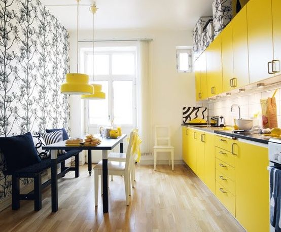 best 25+ yellow kitchen wallpaper ideas on pinterest | floral