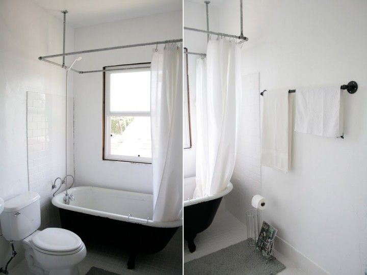 Best 25+ Shower rods and rails ideas on Pinterest | Curtain rod ...