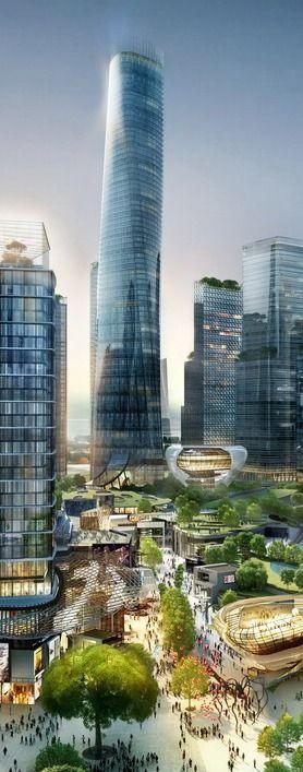 Platinum Tower, Tun Razak Exchange, (Kuala Lumpur Financial District) by Skidmore, Owings & Merrill (SOM) & Veritas :: 80 floors, height 380m, competition winner