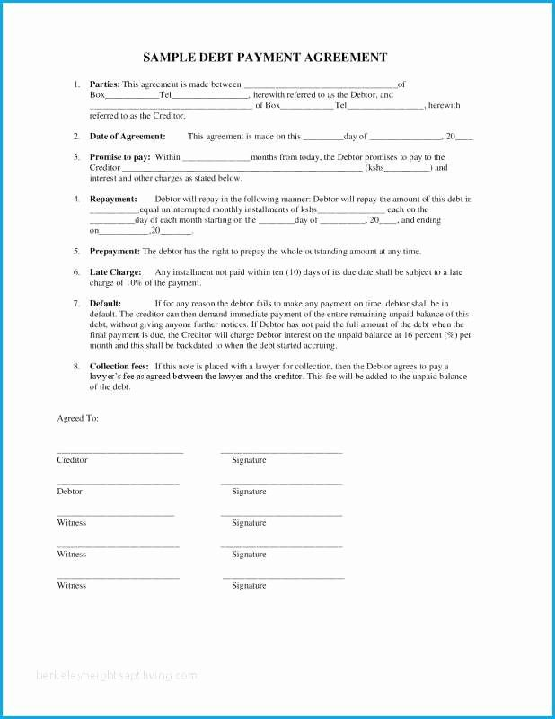 Contract for Money Owed Template Elegant I Owe You ...