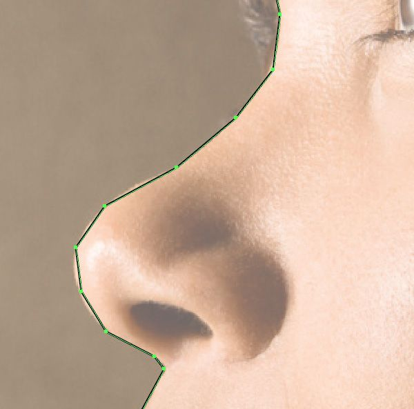 A close up of the face