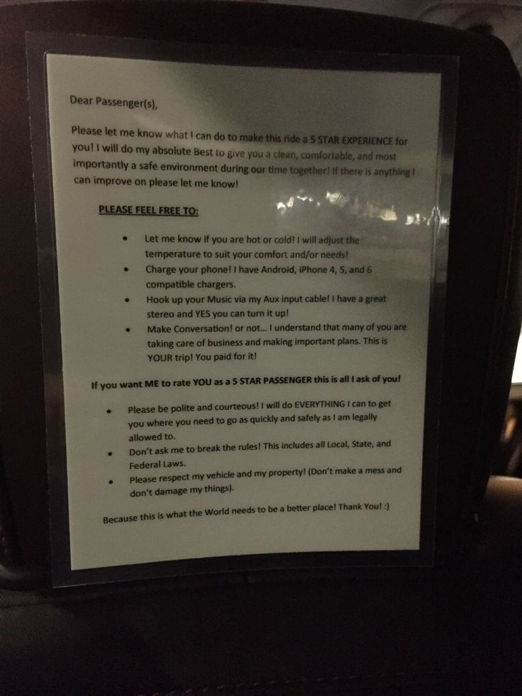 I Found This Posted In My Uber Driver's Car – Wow! http://holidaybays.com/i-found-this-posted-in-my-uber-drivers-car-wow/