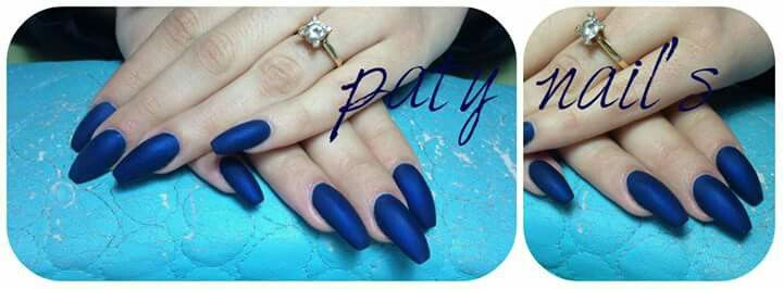 Matte blue  #patynailsviseu