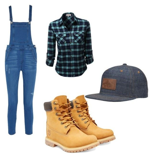 """Construction worker clothes in girls style"" by doctorwholoverforeverabdalways ❤ liked on Polyvore featuring Timberland, Rebecca Minkoff and prAna"