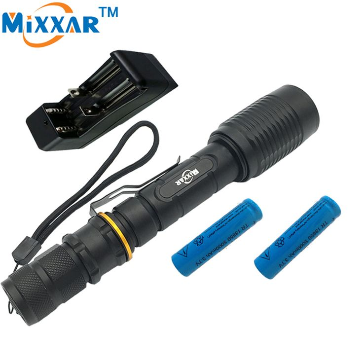 ZK35 V5 CREE XM-L T6 LED Flashlight  torch 5000LM 5-Mode Torch light suitable two 5000mAh batteries Telescopic Zoom lamp lantern #Affiliate