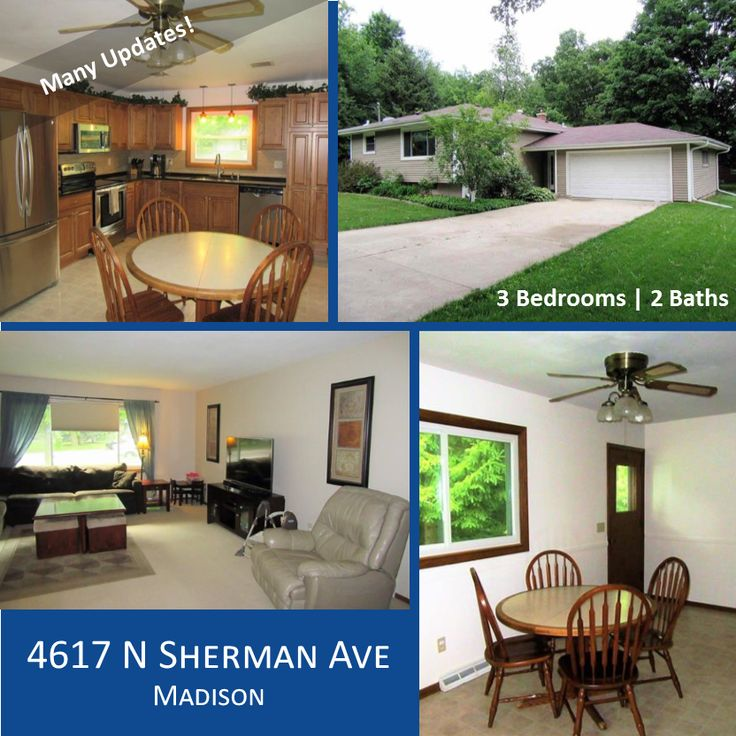 🏠Open House: Sun 7/217, 12 - 2 PM - MADISON, WI - 3 Br, 2 Ba: Great home loaded w/updates! Perfect home for large parties, very spacious living room. Newer kitchen w/granite counters, beautiful cabinets & stainless steel appliances. Newer windows, furnace & central air! Updated Bath. Lg family rm w/exposure currently used as spare br. Tons of storage space. 2-car garage. | 4617 N SHERMAN AVE, #MADISON WI #53704 #JanCiotti #jciotti #1807280 #homeforsale #madisonwi