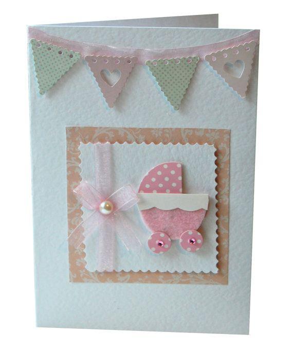 New Baby Girl card by CardsbyCharlotte on Etsy, £3.00
