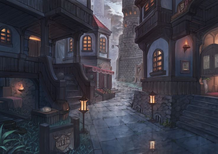 Morning in the Town by puyoakira