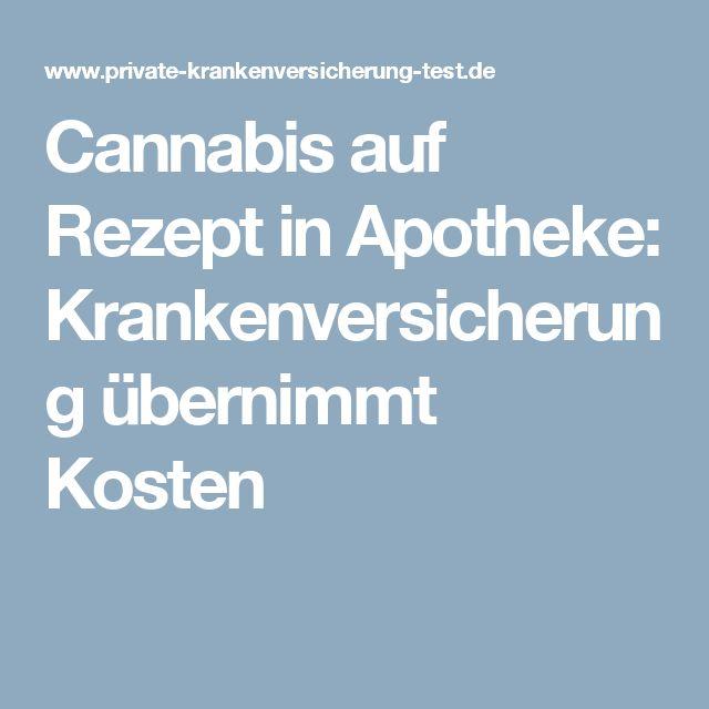 Cannabis auf Rezept in Apotheke: Krankenversicherung übernimmt Kosten