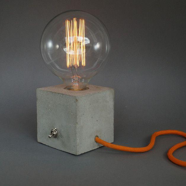 """Tischlampen - """"cubo"""" Betonlampe - ein Designerstück von Uniikat-Shop bei DaWanda"""