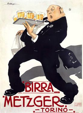 French Birra Metzger Beer Fine Art Giclee Print