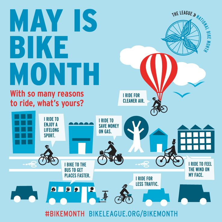 May is National Bike Month. Hoping I'll feel up to riding in the next few weeks.