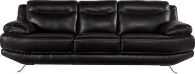 Sofia Vergara Castilla Black Leather Sofa