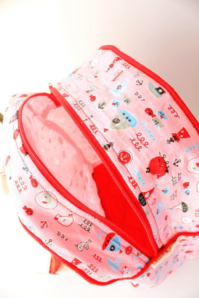 Toddler backpack, kids back pack, girls, cute characters, Pink, Red, with padded straps