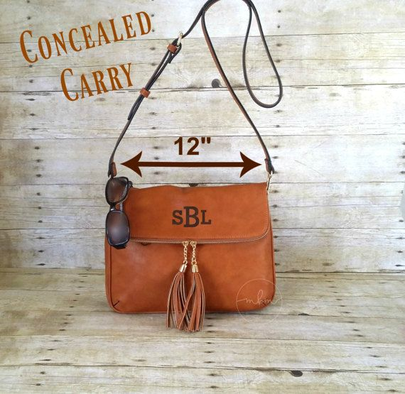 Monogrammed Concealed Carry Purse  CCW Brown by MaBrownMercantile