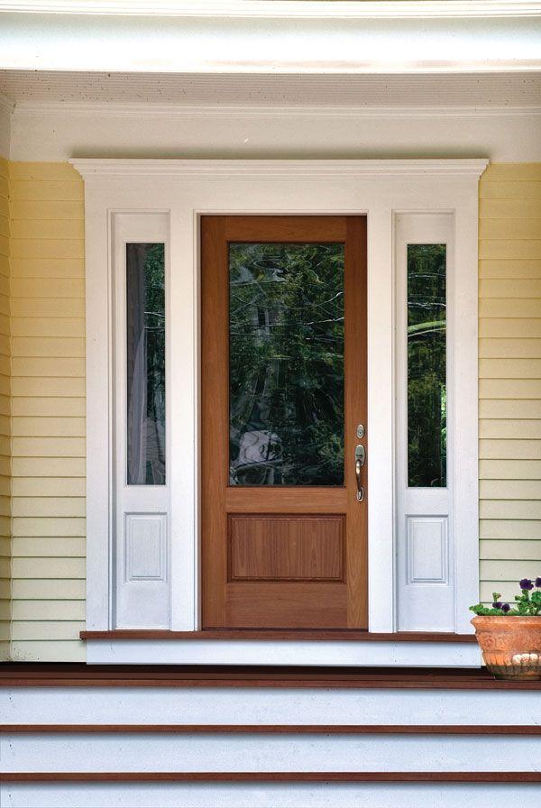 34 best images about exterior doors on pinterest for Wood front door with storm door