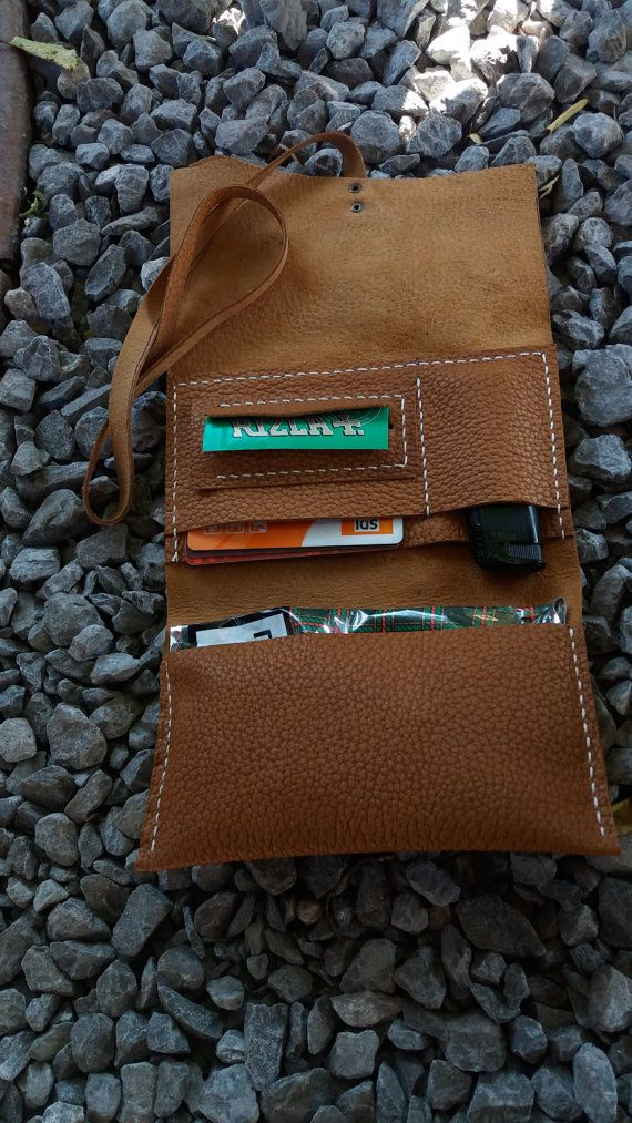 Rolling tobacco case leather tobacco case Tobacco Roll by GORIANI
