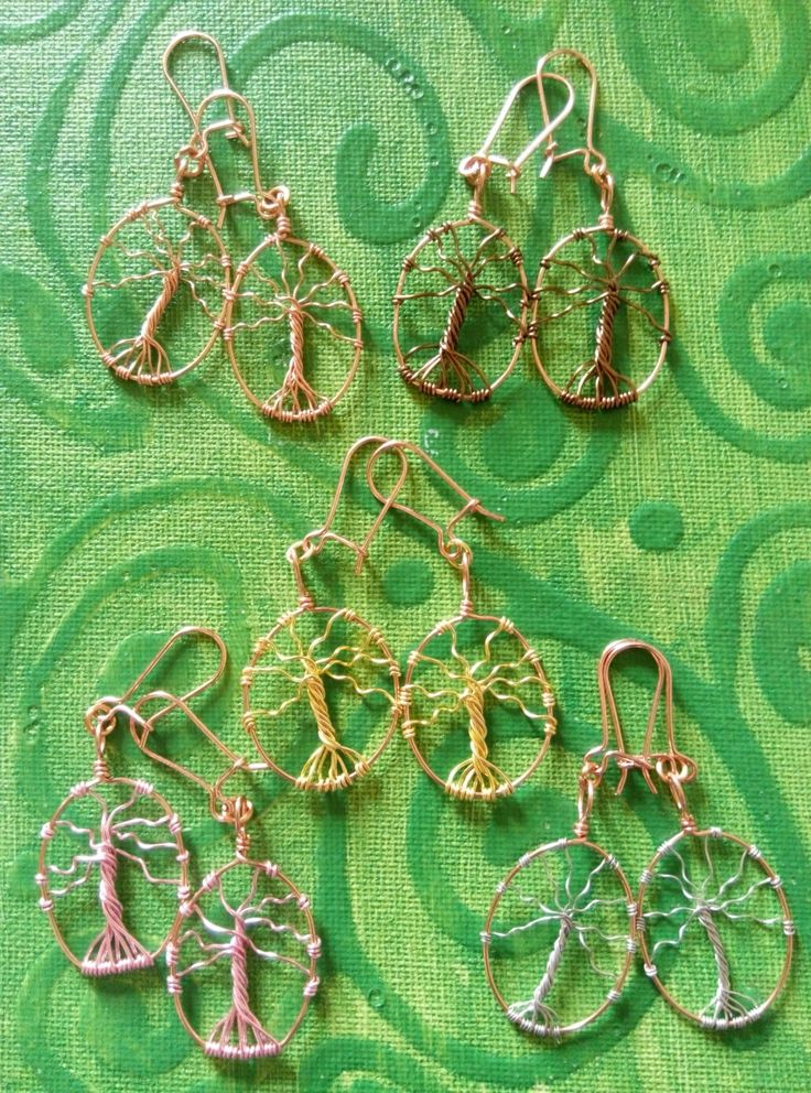 Copper tree of life earrings. hand made in Ireland. by terramor on Etsy