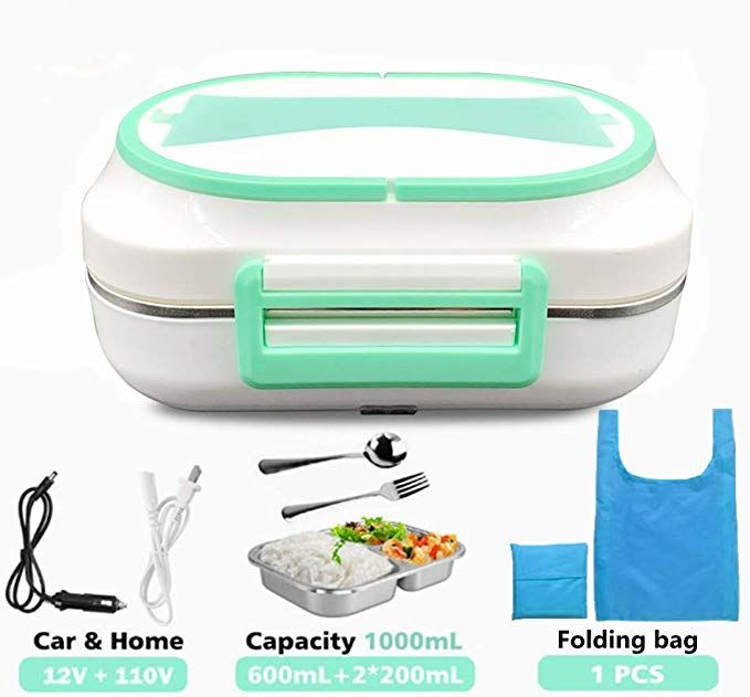 110//220V HOME ELECTRIC LUNCH BOX FOOD WARMER 12V CAR USE PORTABLE LUNCH HEATER