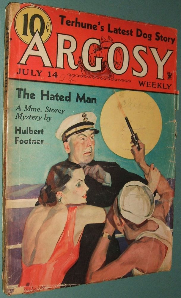 Vintage Argosy July 14, 1934  Albert Payson Terhune, Foster-Harris Dog Stories #Argosy