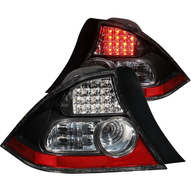 ANZO LED Taillights Black 2004-2005 Honda Civic 2door (Set of 2)