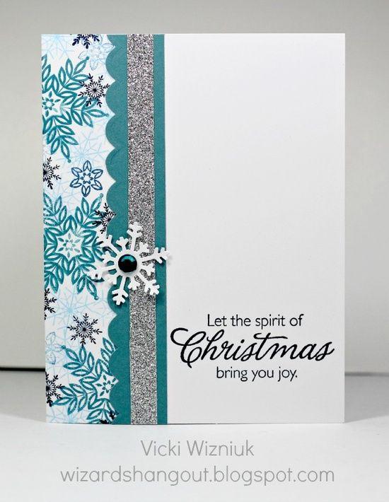 Simple christmas aqua card
