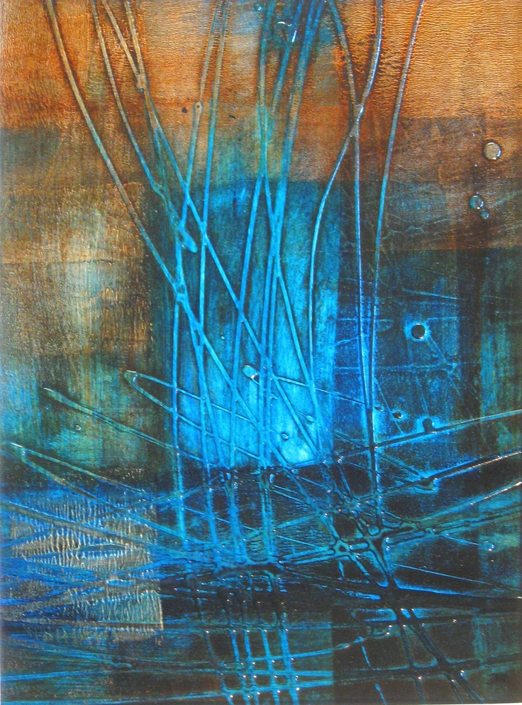 "Acrylic 11x14      ""Blues 1"" by alison marshall"